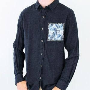ON THE BYAS Long Sleeve Button Up Pocket Tee/Shirt